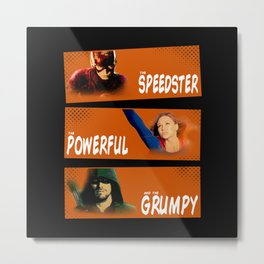 The Speedster, the Powerful, and the Grumpy Metal Print