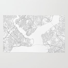 Istanbul, Turkey Minimalist Map Rug