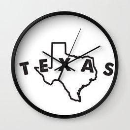 texas art Wall Clock
