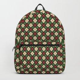 Vintage holiday socks Backpack