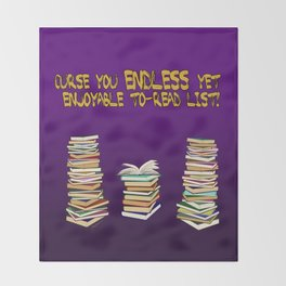 Endless to-read List Throw Blanket