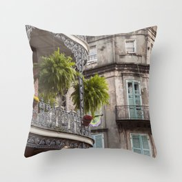 New Orleans Looking Down Royal Throw Pillow