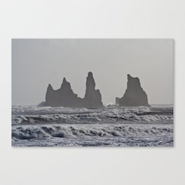 Black Beach  Canvas Print