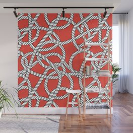 Red Rope Pattern Wall Mural
