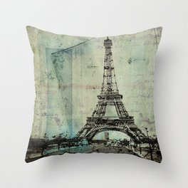 With Love From Paris Throw Pillow