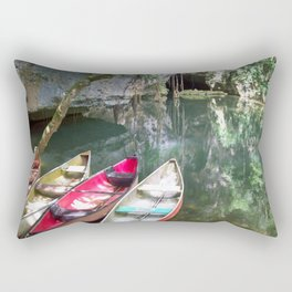 Journey to the Underworld via Belize Cave Rectangular Pillow