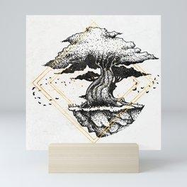 Lonely Tree Inktober :: The Air Seems Restless Mini Art Print