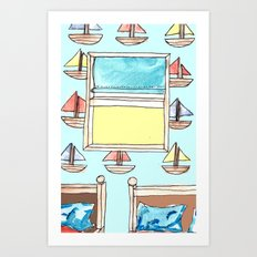 boats on the wall Art Print