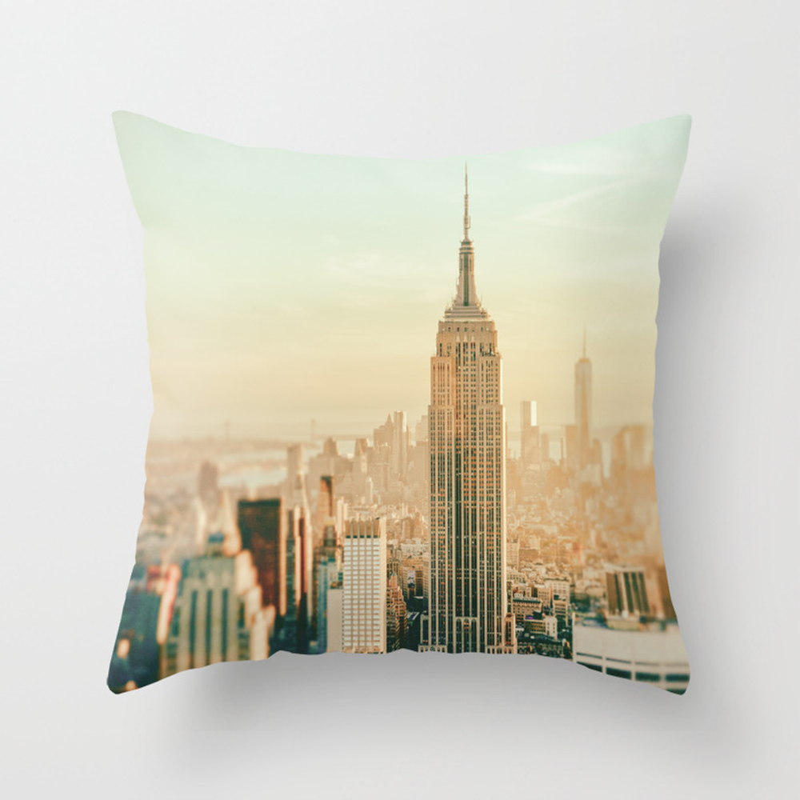 New York City Skyline Dreams Throw Pillow by Newyorkphotography PLW1720489