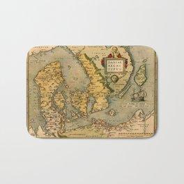 Map Of Denmark 1572 Bath Mat