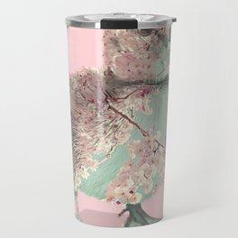 Cherry Blossom Baby Duck Travel Mug