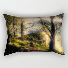 Misty Solitude, The Way Through The Woods Rectangular Pillow