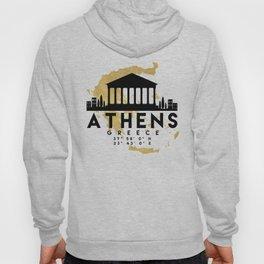 ATHENS GREECE SILHOUETTE SKYLINE MAP ART Hoody