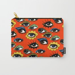 60s Eye Pattern Carry-All Pouch