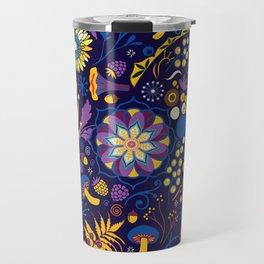 Ripe autumn – purple and yellow Travel Mug