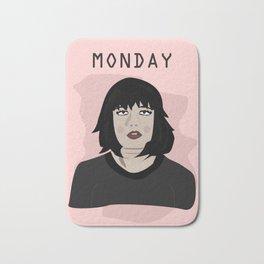 The Monday Girl Bath Mat