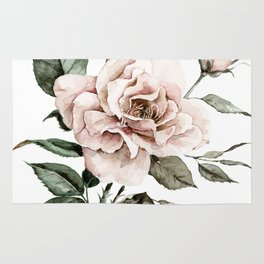 Faded Pink Rose Rug