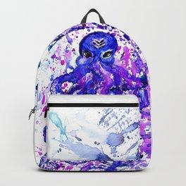 Violet octopus Backpack