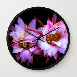 Purple cactus blossom Wall Clock
