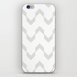 Simply Deconstructed Chevron Retro Gray on White iPhone Skin