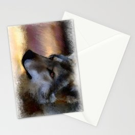 autumn wolf Stationery Cards