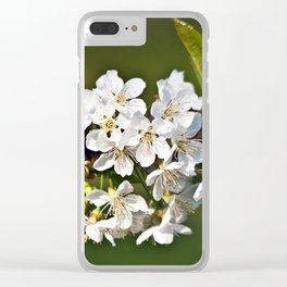 White Apple Blossoms Clear iPhone Case