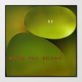 Belong Canvas Print