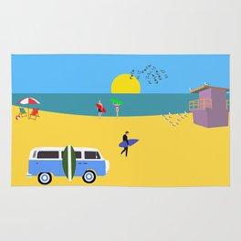 Surfer beach Rug
