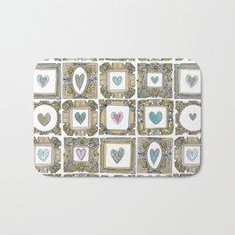 love heart frames Bath Mat