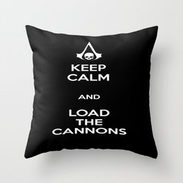 Load the Cannons Throw Pillow