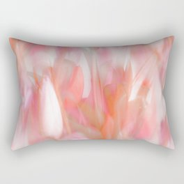 Pink Tulips Abstract Nature Spring Atmosphere Rectangular Pillow