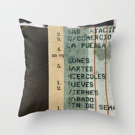 Spanish Calendar Throw Pillow