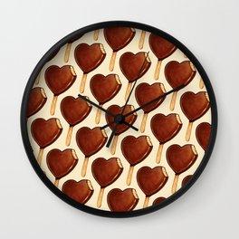 Ice Cream Pattern - Heart Wall Clock