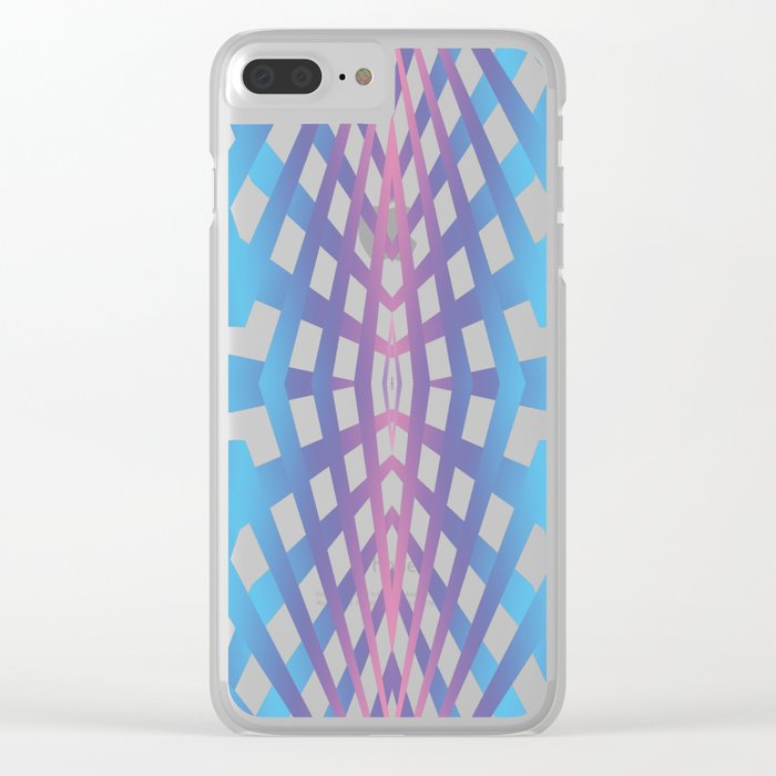 Abstract geometric line design Clear iPhone Case