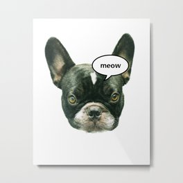What does the dog say? Metal Print