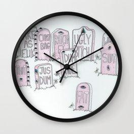 Dead girls  Wall Clock