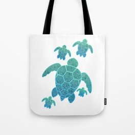 A Family of Sea Turtles Tote Bag