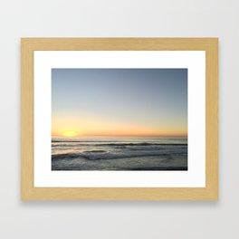Sunset in Cardiff Framed Art Print
