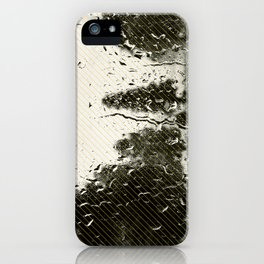 Cypress in the Rain iPhone Case