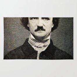 Edgar Allan Poe Engraving Rug