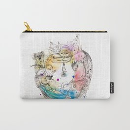 Animals Wreath Carry-All Pouch