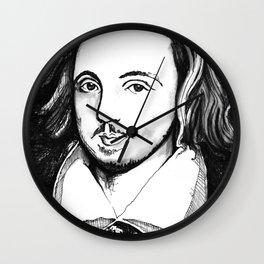 Christopher Marlowe Portrait Wall Clock