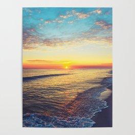 Summer Sunset Ocean Beach - Nature Photography Poster