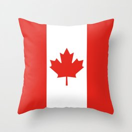 Red and White Canadian Flag Throw Pillow