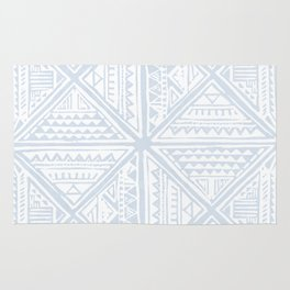 Simply Tribal Tile in Sky Blue on Lunar Gray Rug