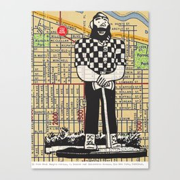 Paul Bunyan, North Denver at Interstate Avenue, You Are Here, Portland. Canvas Print