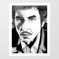 bob dylan Art Prints featuring Bob Dylan by Jocke Hegsund