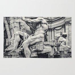 Fontana dei Quattro Fiumi, Piazza Navona, Rome, Italy Rug