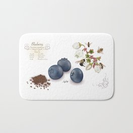 Blueberry and Pollinators Bath Mat