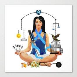 The Chronic Illness Warrior (CFS/ME) Canvas Print